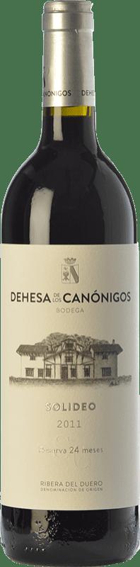Envío gratis | Vino tinto Dehesa de los Canónigos Solideo 24 Meses Reserva 2012 D.O. Ribera del Duero Castilla y León España Tempranillo, Cabernet Sauvignon, Albillo Botella 75 cl