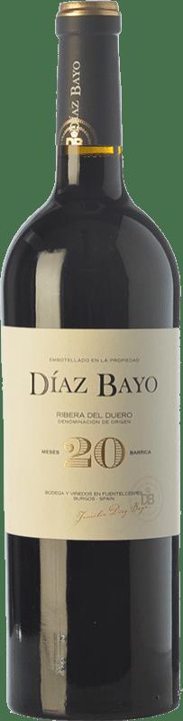 27,95 € Free Shipping | Red wine Díaz Bayo Nuestro 20 Meses Crianza D.O. Ribera del Duero Castilla y León Spain Tempranillo Bottle 75 cl