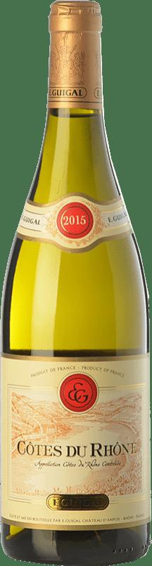11,95 € Free Shipping | White wine Domaine E. Guigal Blanc A.O.C. Côtes du Rhône Rhône France Grenache White, Roussanne, Viognier, Marsanne, Bourboulenc, Clairette Blanche Bottle 75 cl