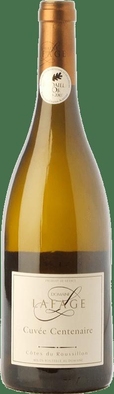 9,95 € 免费送货   白酒 Domaine Lafage Cuvée Centenaire Crianza A.O.C. Côtes du Roussillon 朗格多克 - 鲁西荣 法国 Grenache White, Roussanne 瓶子 75 cl