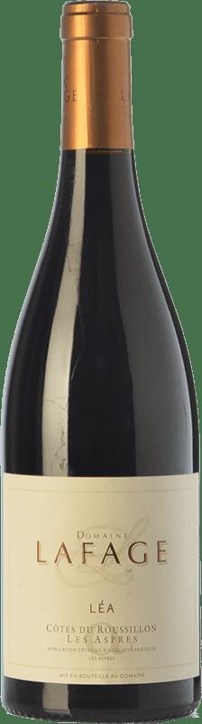 24,95 € Envoi gratuit | Vin rouge Domaine Lafage Cuvée Léa Crianza A.O.C. Côtes du Roussillon Languedoc-Roussillon France Syrah, Grenache, Carignan Bouteille 75 cl
