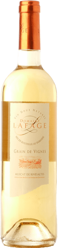 19,95 € | Sweet wine Domaine Lafage Grain de Vignes A.O.C. Muscat de Rivesaltes Languedoc-Roussillon France Muscat of Alexandria, Muscatel Small Grain Bottle 75 cl