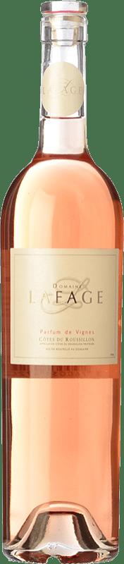 12,95 € Free Shipping | Rosé wine Domaine Lafage Parfum de Vignes A.O.C. Côtes du Roussillon Languedoc-Roussillon France Syrah, Grenache, Carignan Bottle 75 cl