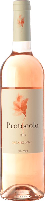 4,95 € Free Shipping | Rosé wine Dominio de Eguren Protocolo Joven I.G.P. Vino de la Tierra de Castilla Castilla la Mancha Spain Tempranillo, Bobal Bottle 75 cl
