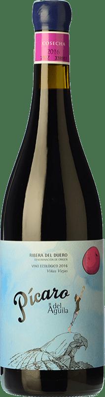 23,95 € | Red wine Dominio del Águila Pícaro del Águila Crianza D.O. Ribera del Duero Castilla y León Spain Tempranillo, Grenache, Bobal, Albillo Bottle 75 cl