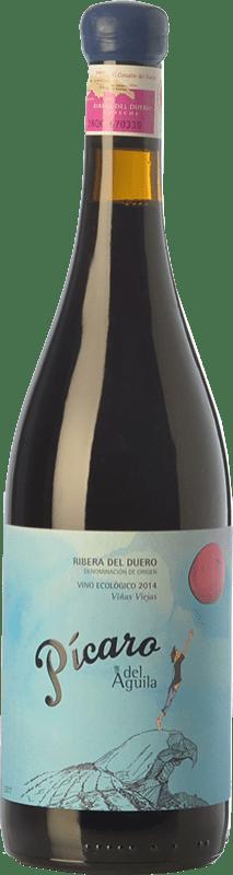 261,95 € Envío gratis | Vino tinto Dominio del Águila Pícaro del Águila Crianza D.O. Ribera del Duero Castilla y León España Tempranillo, Garnacha, Bobal, Albillo Botella Especial 5 L