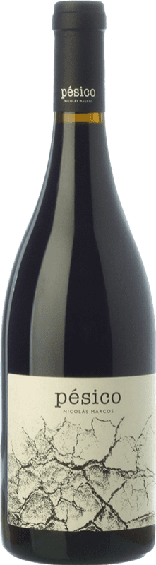22,95 € Free Shipping | Red wine Dominio del Urogallo Pésico Crianza Spain Mencía, Verdejo Black, Carrasquín, Albarín Black Bottle 75 cl