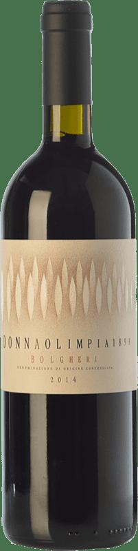 25,95 € Free Shipping | Red wine Donna Olimpia 1898 Rosso D.O.C. Bolgheri Tuscany Italy Merlot, Cabernet Sauvignon, Cabernet Franc, Petit Verdot Bottle 75 cl