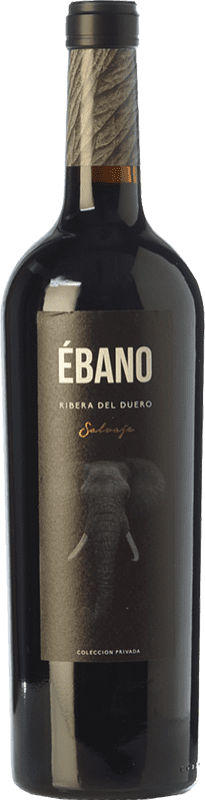 21,95 € Free Shipping | Red wine Ébano Salvaje Crianza D.O. Ribera del Duero Castilla y León Spain Tempranillo Bottle 75 cl