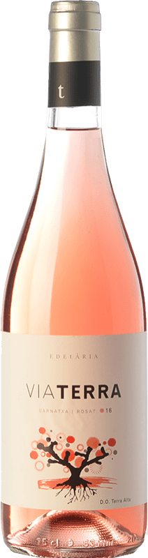 9,95 € Free Shipping | Rosé wine Edetària Via Terra Rosat D.O. Terra Alta Catalonia Spain Grenache Hairy Bottle 75 cl