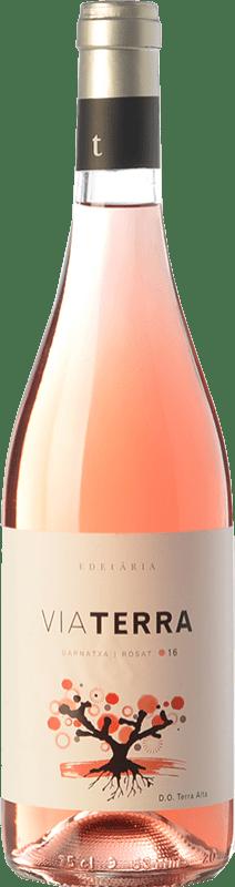 9,95 € Envío gratis | Vino rosado Edetària Via Terra Rosat D.O. Terra Alta Cataluña España Garnacha Peluda Botella 75 cl