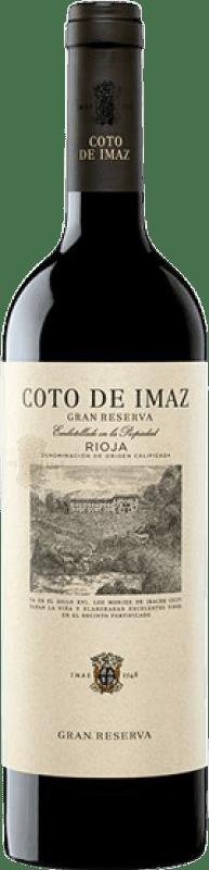 23,95 € Envío gratis | Vino tinto Coto de Rioja Coto de Imaz Gran Reserva D.O.Ca. Rioja La Rioja España Tempranillo Botella 75 cl