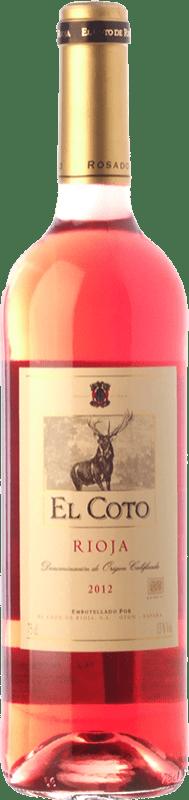 6,95 € Envío gratis | Vino rosado Coto de Rioja Joven D.O.Ca. Rioja La Rioja España Tempranillo, Garnacha Botella 75 cl