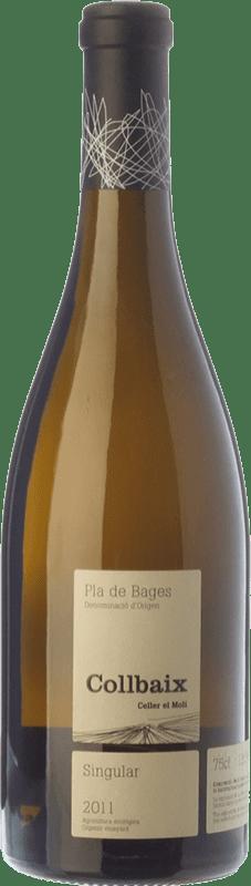 32,95 € Envío gratis | Vino blanco El Molí Collbaix Singular Blanc D.O. Pla de Bages Cataluña España Macabeo, Picapoll Botella 75 cl