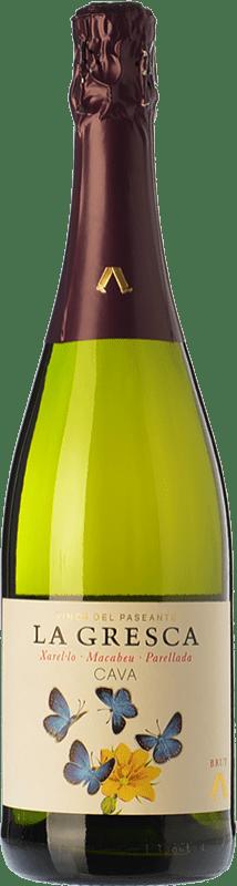 8,95 € Free Shipping | White sparkling El Paseante La Gresca Brut D.O. Cava Catalonia Spain Macabeo, Xarel·lo, Parellada Bottle 75 cl