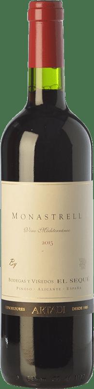 9,95 € Envío gratis | Vino tinto El Sequé Monastrell Joven D.O. Alicante Comunidad Valenciana España Syrah, Monastrell Botella 75 cl
