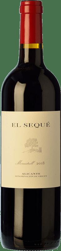 22,95 € Envío gratis | Vino tinto El Sequé Crianza D.O. Alicante Comunidad Valenciana España Monastrell Botella 75 cl