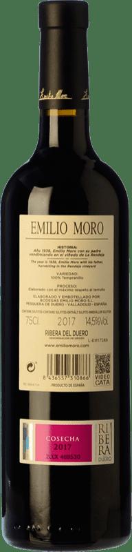 28,95 € Free Shipping | Red wine Emilio Moro Crianza D.O. Ribera del Duero Castilla y León Spain Tempranillo Special Bottle 5 L