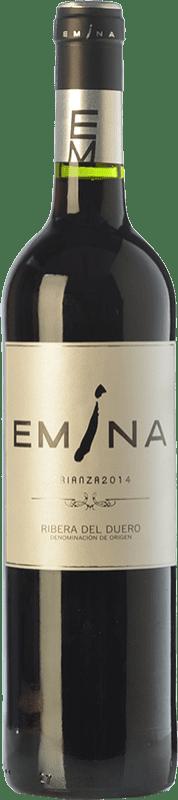 19,95 € 免费送货 | 红酒 Emina Crianza D.O. Ribera del Duero 卡斯蒂利亚莱昂 西班牙 Tempranillo 瓶子 75 cl