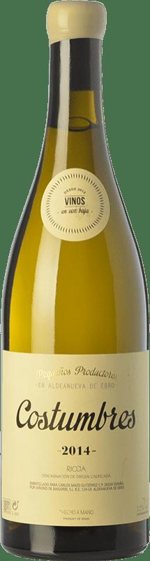 19,95 € 免费送货 | 白酒 En Voz Baja Costumbres Crianza D.O.Ca. Rioja 拉里奥哈 西班牙 Viura 瓶子 75 cl