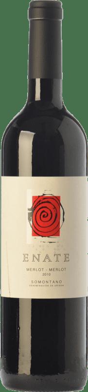 21,95 € Envío gratis | Vino tinto Enate Crianza D.O. Somontano Aragón España Merlot Botella 75 cl