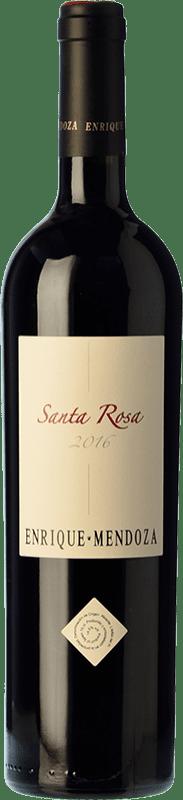 24,95 € Free Shipping | Red wine Enrique Mendoza Santa Rosa Reserva D.O. Alicante Valencian Community Spain Merlot, Syrah, Cabernet Sauvignon Bottle 75 cl