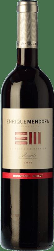 13,95 € Free Shipping | Red wine Enrique Mendoza Merlot-Monastrell Crianza D.O. Alicante Valencian Community Spain Merlot, Monastrell Bottle 75 cl