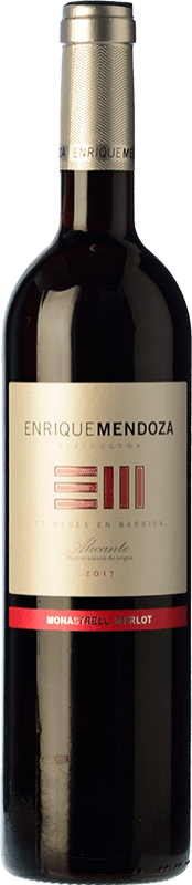 13,95 € Envoi gratuit | Vin rouge Enrique Mendoza Merlot-Monastrell Crianza D.O. Alicante Communauté valencienne Espagne Merlot, Monastrell Bouteille 75 cl