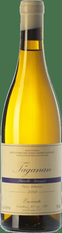 22,95 € Envío gratis | Vino blanco Envínate Táganan Parcela Amogoje Crianza España Malvasía, Listán Blanco, Marmajuelo, Albillo Criollo, Gual Botella 75 cl