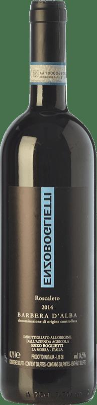 29,95 € Free Shipping | Red wine Enzo Boglietti Roscaleto D.O.C. Barbera d'Alba Piemonte Italy Barbera Bottle 75 cl