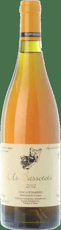 19,95 € Envío gratis | Vino blanco Escoda Sanahuja Els Bassotets D.O. Conca de Barberà Cataluña España Chenin Blanco Botella 75 cl