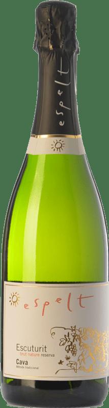 9,95 € Free Shipping | White sparkling Espelt Escuturit Brut Nature Reserva D.O. Cava Catalonia Spain Macabeo, Xarel·lo, Chardonnay Bottle 75 cl