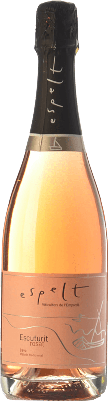 9,95 € | Rosé sparkling Espelt Escuturit Rose Brut Reserva D.O. Cava Catalonia Spain Monastrell Bottle 75 cl