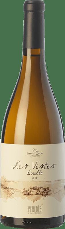 14,95 € Free Shipping | White wine Esteve i Gibert Les Vistes Crianza D.O. Penedès Catalonia Spain Xarel·lo Bottle 75 cl