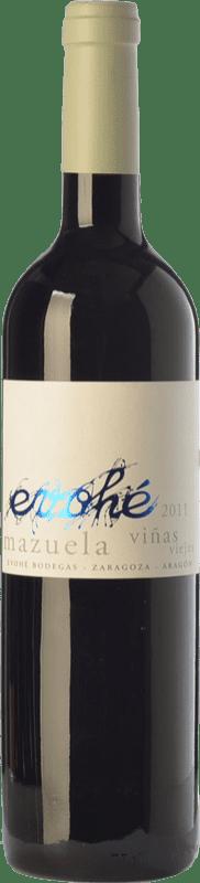5,95 € Free Shipping | Red wine Evohé Joven I.G.P. Vino de la Tierra Bajo Aragón Aragon Spain Mazuelo Bottle 75 cl