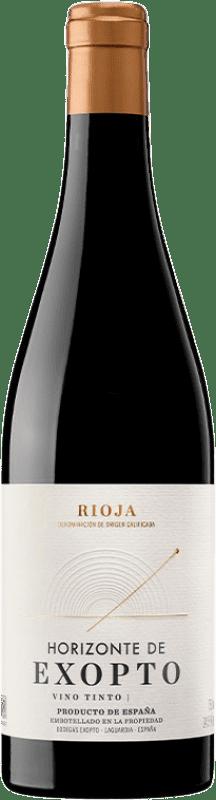 15,95 € Free Shipping | Red wine Exopto Horizonte Crianza D.O.Ca. Rioja The Rioja Spain Tempranillo, Grenache, Mazuelo Bottle 75 cl