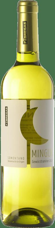 7,95 € Free Shipping | White wine Fábregas Mingua D.O. Somontano Aragon Spain Gewürztraminer Bottle 75 cl