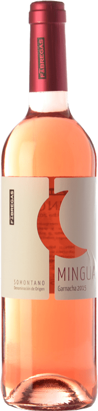 4,95 € Free Shipping | Rosé wine Fábregas Mingua Joven D.O. Somontano Aragon Spain Syrah, Grenache Bottle 75 cl