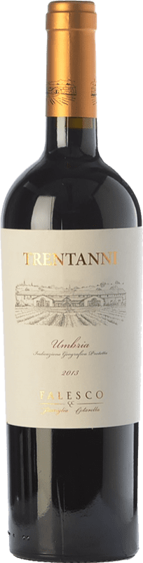 16,95 € | Red wine Falesco Trentanni I.G.T. Umbria Umbria Italy Merlot, Sangiovese Bottle 75 cl