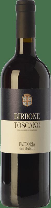 14,95 € 免费送货 | 红酒 Fattoria dei Barbi Birbone I.G.T. Toscana 托斯卡纳 意大利 Merlot, Sangiovese 瓶子 75 cl
