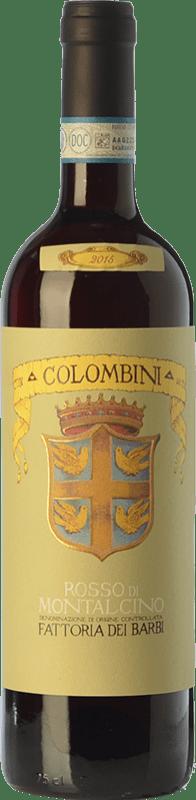 17,95 € Free Shipping | Red wine Fattoria dei Barbi Colombini D.O.C. Rosso di Montalcino Tuscany Italy Sangiovese Bottle 75 cl