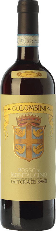 17,95 € Envío gratis | Vino tinto Fattoria dei Barbi Colombini D.O.C. Rosso di Montalcino Toscana Italia Sangiovese Botella 75 cl