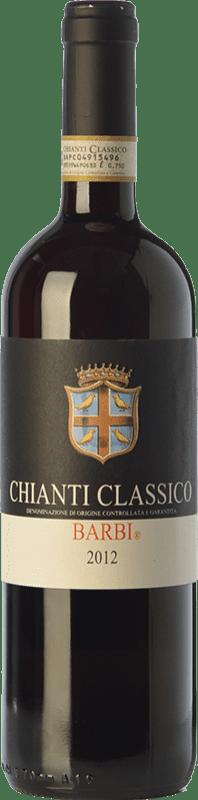 14,95 € Envío gratis | Vino tinto Fattoria dei Barbi D.O.C.G. Chianti Classico Toscana Italia Sangiovese, Canaiolo Botella 75 cl