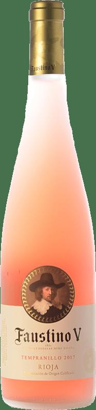 6,95 €   ロゼワイン Faustino V Joven D.O.Ca. Rioja ラ・リオハ スペイン Tempranillo ボトル 75 cl
