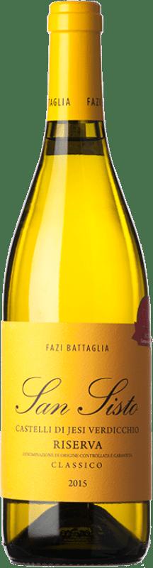 22,95 € | White wine Fazi Battaglia San Sisto Reserva D.O.C.G. Castelli di Jesi Verdicchio Riserva Marche Italy Verdicchio Bottle 75 cl