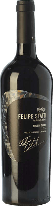 36,95 € | Red wine Felipe Staiti Vertigo Blend Reserva I.G. Valle de Uco Uco Valley Argentina Syrah, Malbec Bottle 75 cl