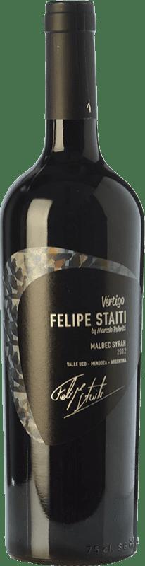 36,95 € Envoi gratuit | Vin rouge Felipe Staiti Vertigo Blend Reserva I.G. Valle de Uco Uco Valley Argentine Syrah, Malbec Bouteille 75 cl