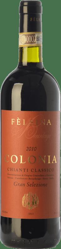 114,95 € Envío gratis | Vino tinto Fèlsina Gran Selezione Colonia D.O.C.G. Chianti Classico Toscana Italia Sangiovese Botella 75 cl