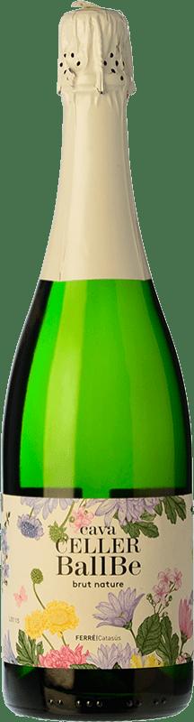 8,95 € 免费送货 | 白起泡酒 Ferré i Catasús Celler Ballbé Brut Nature Joven D.O. Cava 加泰罗尼亚 西班牙 Macabeo, Xarel·lo, Parellada 瓶子 75 cl