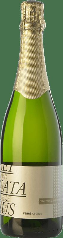 9,95 € 免费送货 | 白起泡酒 Ferré i Catasús Classic Brut Nature Reserva D.O. Cava 加泰罗尼亚 西班牙 Macabeo, Xarel·lo, Parellada 瓶子 75 cl